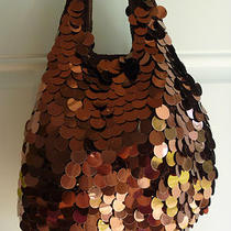 Smaller Brown Knit & Sequined Handbag / Purse Photo