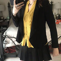 Smart Looking Draped Black Blazer Jacket From Anthropologie Size Small Photo