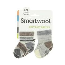 Smartwool Kids Bootie Batch Socks in Fossil Heather 6406 Size 6-12 Months Photo