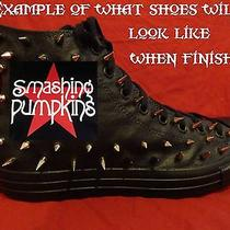 Smashing Pumpkin Grunge Rock Custom Studded Converse Shirt Sneakers Shoes Spikes Photo
