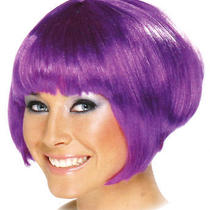 Smiffy's Purple Babe Bob Fancy Dress 1920's Style Glamour Wig Photo