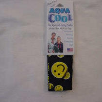 Smiley Face Aqua Cool Scarf Sports Work Hot Flashes  Photo