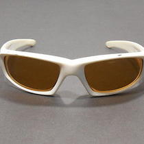 Smith Hudson Sunglasses Women White Plastic Bronze Lens Sport Wrap Photo