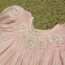 Smocked 4t Castles and Crowns Lamb Lambs Easter Dress Photo