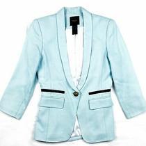 Smythe Blue Color Block Fitted Jacket Blazer Size 2 Photo