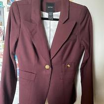 Smythe Classic Duchess One Button Maroon/eggplant Color Wool Blazer Size 6 Photo