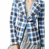 Smythe Patch Pocket Duchess Blazer Nwt Size 4 Blue Fits Size 2  Blue/white 795 Photo