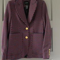 Smythe Portrait Neck Jacquard Blazer Jacket Size 8 Photo