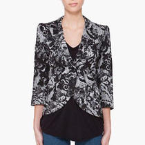 Smythe Pouf Sleeve Serpentine One Button Blazer Jacket 4 Uk 8 Blk/white New695 Photo