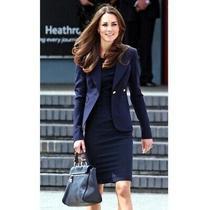 Smythe Women's Classic Duchess Blazer in Navy - 6 Photo