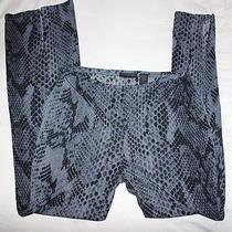 Snakeskin Print Pants - Express Size M   Photo