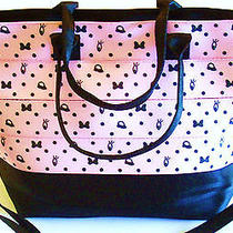 So Cute Nwt Harveys Seat Belt Med. Disney Blushing Minnie Pink Streamline Tote  Photo