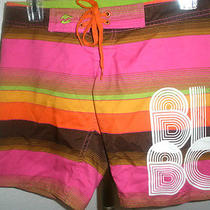 So Fun  Womens/juniors Billabong Multi-Color Boardshorts Size 0 Photo