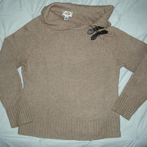 So Nice Talbot's Heather Tan Turtleneck W 2 Buckle Accents Sweater L/s M Photo