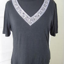Soca St John Only-to-Each-Other Metal Accent Jet Black Shirt L Photo