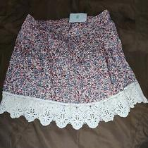 Socialite New Pink Blush Size Medium M Junior Floral-Print a-Line Skirt New Photo