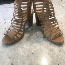Soda Tan Brown Strappy Sandals Heels 7.5 Photo