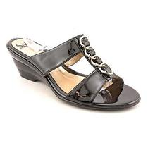 Sofft Ipanema Womens Size 8.5 Black Open Toe Wedge Sandals Shoes New/display Photo