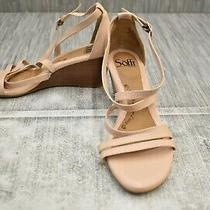 Sofft Mecina Sf0004602 Wedge Sandals Women's Size 8.5 M Blush Photo