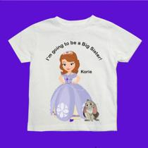 Sofia the First Going to Be a Big Sister Shirt With Your Choice of Words & Name Photo
