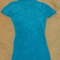Soft Aqua Turquoise Cache Top Shirt Small S Electric Blue Sweater & Bracelet Photo