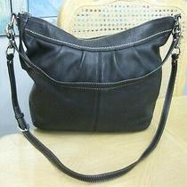 Soft Black Leather Coach 13764 Soho Hobo Style Handbag Purse Photo