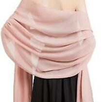 Soft Chiffon Scarve Shawls Wraps for Dresses Women Blush Size One Size Qygq Photo