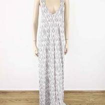 Soft Joie Emilia Ikat Print Maxi Dress in Dolphin Grey M 168 7368 Missing Belt Photo