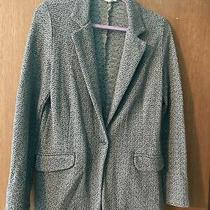 Soft Joie Neville Shawl French Terry Blazer Gray/black Size M Photo