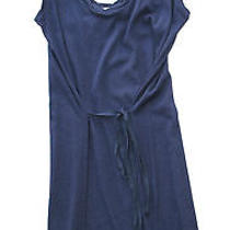 Soft Joie Womens L Akina Navy Blue Scalloped Edge Apron Style Tank Dress New Photo