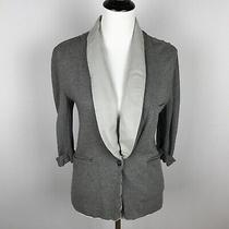 Soft Joie Womens Neville Terry Blazer Size Xs Gray 3/4 Sleeve One Button Jacket Photo
