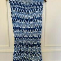 Soft Joie Womens Sleeveless Drop Waist Mini Dress Blue & White Size S Photo