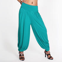 Soft Stretch Harem Baggy Genie Aladdin Pants - Blue 2xs/xs/s/m Photo