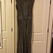 Soft Surroundings Camilla Pants Jumpsuit Charcoal Gray Size Medium Photo