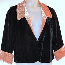 Soft Surroundings Jacket Sz 1x Black & Blush Velvet Evening Retro Plus Photo