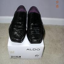Sogliano Aldo Men's Bike Toe Loafer Shoes Color Black in Box Photo