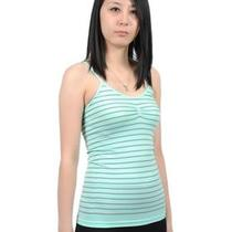 Soho Apparel Seamless Camisole Striped Tank Top Sg-T04 Aqua One Size Photo