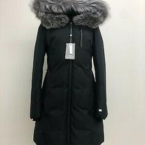 Soia & Kyo Women's Christy Brushed Down Coat Size L Grey on Black Nwt  Photo