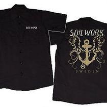 Soilwork Cd Lgo Anchor Logo Sweden Official Work Shirt Lrg New Dickies Photo