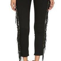 Sold Out 375 Hudson Black Luna Skinny Cropped Fringe Jean 26 Photo