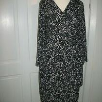 Sold Out Lovely h&m Animal Print Black/white Stretchy Wrap Tie Side Tea Dress M Photo