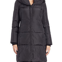 Sold Out Michael Kors Black Hooded Down Coat M82099l Size Medium Photo