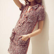 Soldout Like No Others Chic 2012 Lanvin Cotton Blend Raw Edges Tweeded Dress Photo