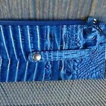 Soldout Nwt Brahmin Bluebonnet Blue Melbourne Credit Card Wallet Nwt Photo