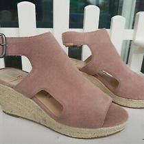 Sole Society Camreigh Women Wedge Slingback Sandals Size Us 8.5m Blush Pink Photo