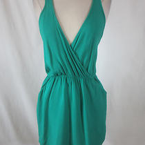 Solemio Aqua Green & Black Woven Back Dress- Size S Pi Photo