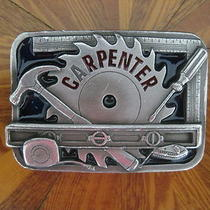 Solid Carpenter Belt Buckle 1994 by c&j Inc .made in the u.s.a. (Pre-Owned)  Photo