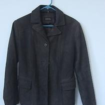 Solid Gray Guess Leather Jacket Photo