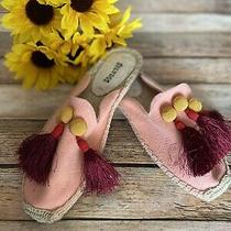 Soludos Canvas Mules With Tassels Size 5.5 Photo