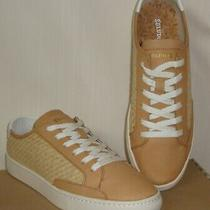 Soludos Ibiza Raffia Lace Up Fashion Sneakers Natural Beige Women Size Us 10 New Photo